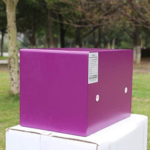 パーツボックス 安全25CM電子パスワードボックスベッドルームベッドサイドテーブルコレクションの小型家電のストレージボックスコマーシャルホテル貴重品 (Color : Purple, Size : 35*25*25cm)