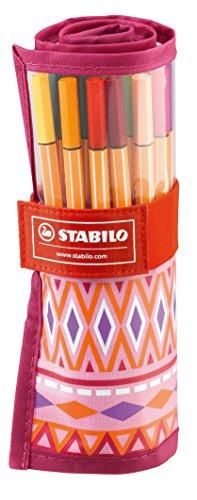 STABILO point 88 25er Rollerset Festival Spirit pink/rosa - Fineliner