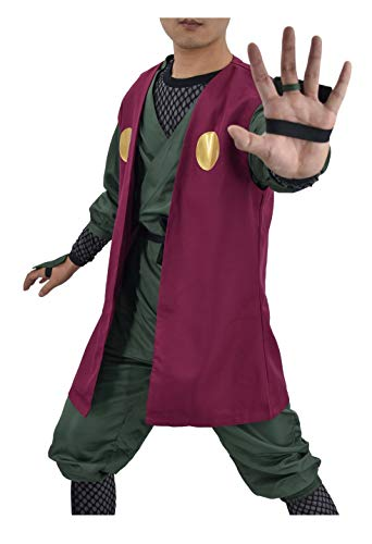 DAZCOS US Size Adult Jiraiya Anime Cosplay Costume (Men M) Red,Green -