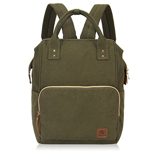 Veegul Stylish Doctor Style Multipurpose School Travel Backpack for Men Women Single Pocket Army ()