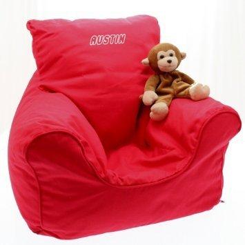 Childrens Beanbag Chair Personalised Mustard
