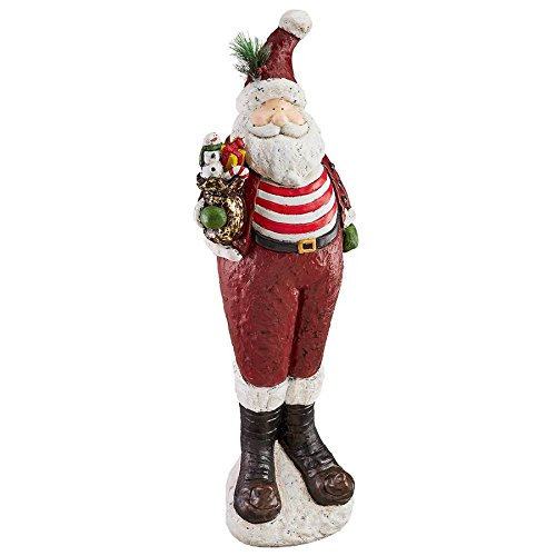 Christmas Decorations - Chillin' with Santa Claus 3 Foot Tall Holiday Decor Statue