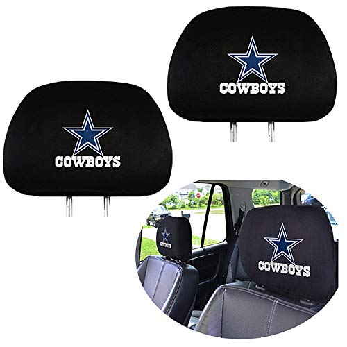 99 Carpro Dallas Cowboys Headrest Covers, Car Truck SUV Van Headrest Covers for American NFL Dallas Cowboys - Set of 2