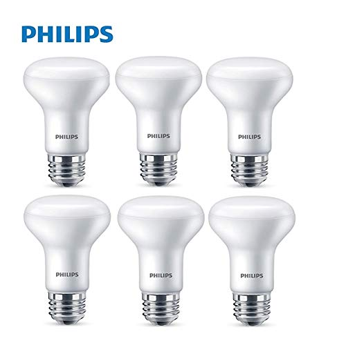 Philips 532937 LED Dimmable R20 Flood Light Bulb 450-Lumen, 5000-Kelvin, 6 (45-Watt Equivalent), E26 Base, Frosted, Day Light, 6 Pack