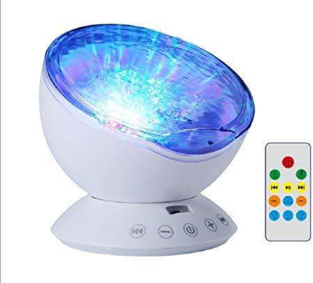 Lámpara LED de proyección, mando a distancia, proyector de ondas ...