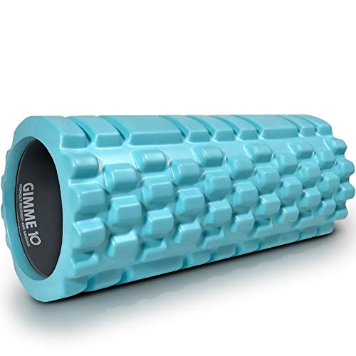 Extra Firm High Density Deep Tissue Massager with Spinal Channel 321 STRONG Foam Roller for Muscle Massage and Myofascial Trigger Point Release with 4K eBook Black