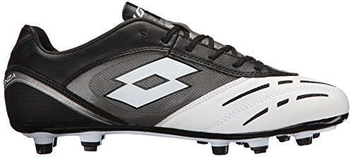 Lotto Mens Stadio Potenza 700 Soccer Cleat Black/white