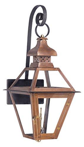 Bayou Outdoor Gas Wall Lantern In Aged Copper (Bayou Gas Lantern)