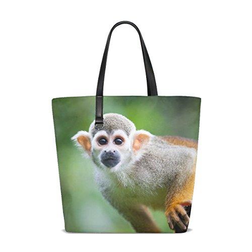 (Animal Monkey Squirrel Pretty Adorable Little Pet Cute Wild Tote Bag Purse Handbag For Women Girls)