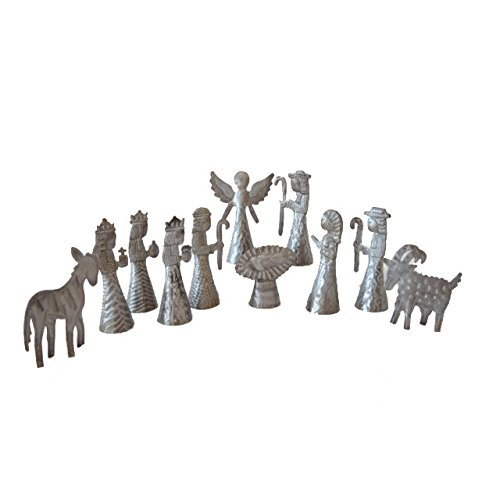 Fair Trade 11 Piece Metal Nativity Set from Haiti Vineworks 675983300241