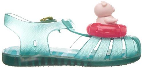 Mini Melissa Girls' Mini Aranha Xi Ballet Flat, Turquoise/Clear, 7 M US Toddler - Image 7