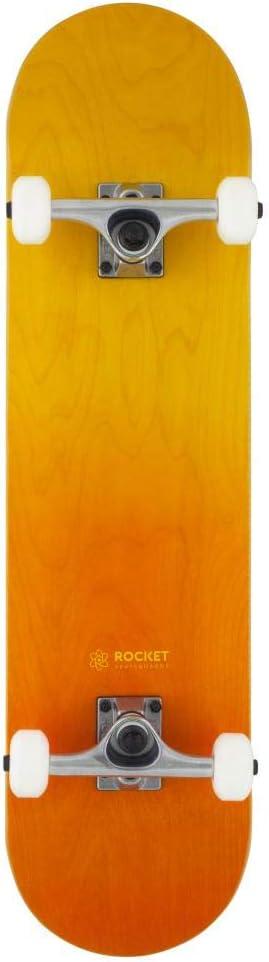Orange//Yellow Rocket Double Dipped Complete Skateboard 8.0