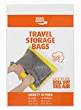 """TeroHouse 10 Travel Storage Bags For Clothes Space Saver Packing Sacks - [5x Large 28x20"""", 5x Medium 24x16""""] Rolling Compression Bag For Luggage. Air Space Roll Up Bags No Vacuum or Pump Needed"""
