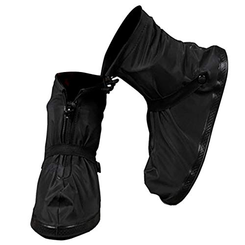 VXAR Rain Shoes Covers Snow Boots Waterproof Overshoes Women Men (Black 3XL)