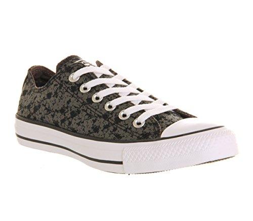 Converse Ctas Slip On Ox, Zapatillas Unisex Adulto Negro (Black Charcoal Floral Exclusive)