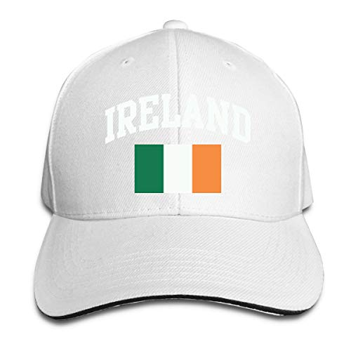 Unisex Vintage Ireland Irish Flag Green St. Patrick's Day Snapback Hat Adjustable Peaked Sandwich Cap]()