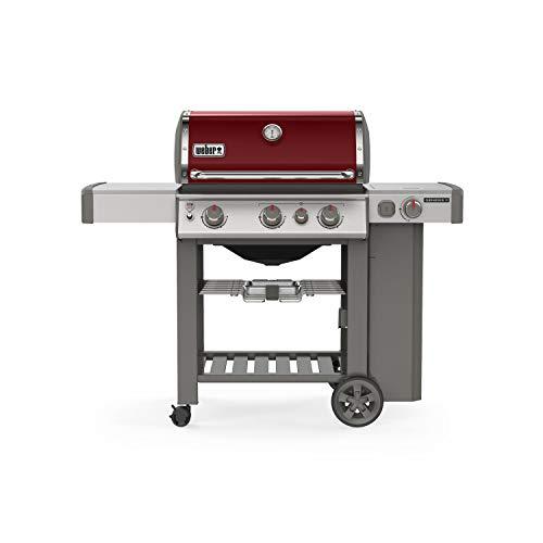 (Weber 61032001 Genesis II E-330 3-Burner Liquid Propane Grill, Crimson)