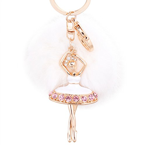 - Aibearty Fashionable Creative Diamond Crystal Rhinestone Keychain Bag Charm Pendent (A0)