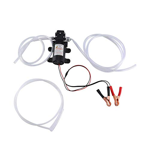 Electric Fuel Pump kit, 12V 60W Self Priming Oil Fluid Diesel Transfer Scavenge Extractor with Hose for Car Boat Motorbike