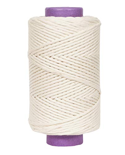 Crafteza Macrame Cord 6mm X 175 mt (About 574 ft) Single Strand Bulk Knotting Rope - Natural Virgin Cotton H Handmade Decorations Macrame Wall Hangings Plant Hanger Bohemian Wedding Backdrop
