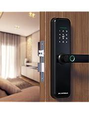 Fechadura Digital Biométrica Eletrônica Inteligente Primebras Com Wifi, App Tuya, Airbnb