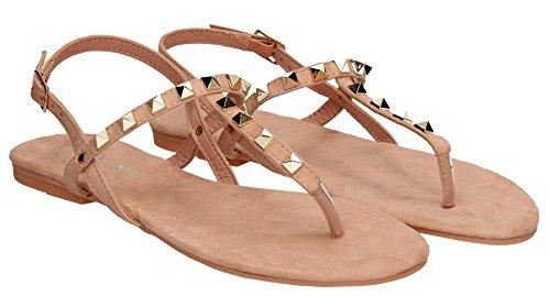 Paula Womens Rock Espadrille Stud Summer Sandals Black Slip on Flat Shoes Bohemian- SWANKYSWANS Pink xHDNiJzoG