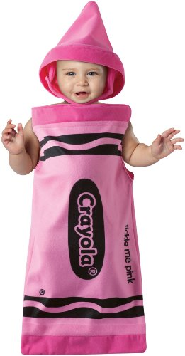 Baby Bunting Costumes (Rasta Imposta - Crayola Tickle Me Pink Crayon Bunting Infant Costume, pink, Baby Bunting (3-9 Months))