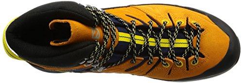 Stivale Da Trekking Salomon X Alp Mid Ltr Gtx - Blazer Blu Scuro Da Uomo / Calendula Brillante / Giallo Impero