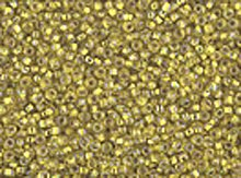 10/0 Czech Seed Bead Hank - Seed Beads 10/0 Czech Iris Silver Lined Yellow (one hank pack)