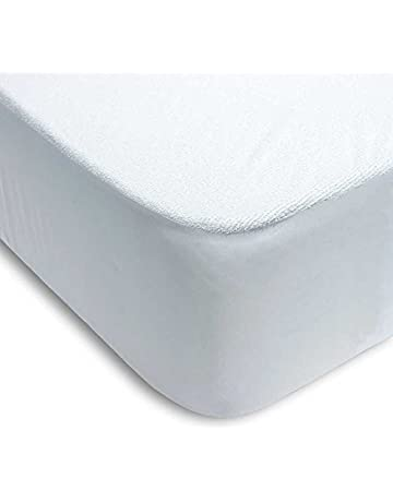 Protector colchón cama 105 x 200cm + 25cm IMPERMEABLE ABSORBENTE LAVABLE ANTI-ACAROS AJUSTABLE GOMA