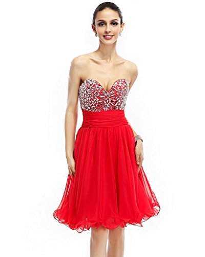 Vimans Damen A-Linie Kleid rot rot WDyM7