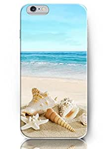 OUO Snap-on Protective Hard Cover for 4.7 Inch Apple Starfish and Seashell on Beach Iphone 6 Case Deep Ocean Themed
