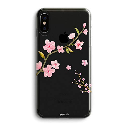 Iphone Xs Max Floral Case Sakura Flowers Girly Pink Cute Cherry Blossom Rose Florals Peach Classy Love Japanese Collection Exotic Clear Protective