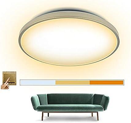 LED Deckenlampe, Deckenleuchte 60W, Warmweiß, Naturalweiß, Kaltweiß, 5400  Lumen, Ø552*118mm, für Wohnzimmer, Flur, Badezimmer