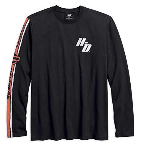 Harley-Davidson Men's Sleeve Stripe Long Sleeve Shirt, Black 96137-18VM (XL)