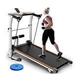 Ren Chang Jia Shi Pin Firm Treadmills Treadmill folding mechanical treadmill multi-function supine treadmill running machine (Color : Orange, Size : 120 * 59 * 19cm)