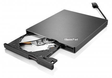 Lenovo External USB 3.0/2.0 ( 4XA0E97775) Slim Portable DVD Burner In The Lenovo Retail Sealed Packing for X1 Carbon And Yoga (Lenovo Usb Dvd Player)
