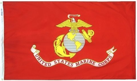 3x5' US Marine Corps Nylon Flag - All Weather, Durable, Outd