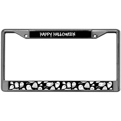 GND Metal License Plate Frame Halloween License Plate Holder Auto Steel Metal License Plate Frame Tag Holder Two Hole Frame Designed Won't Block -