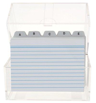 6x Karteikasten DIN A6 & 600 Karteikarten  Register B007X4H3DI | Erste in seiner Klasse