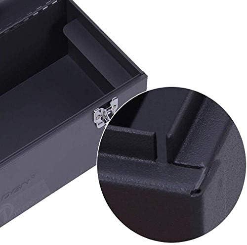 CHUNSHENN ツールボックス 工具箱 適するのホームアウトドア修復ツールストレージボックス、鉄の太い多機能パープル、サイズ43 * 18 * 19センチ(カラー:パープル、サイズ:43 * 18 * 19センチ)