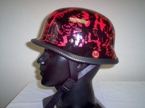 New German Red Bone Yard Novelty Biker Helmet Xx Large
