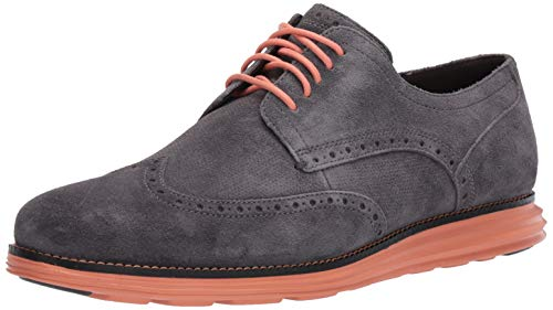 Cole Haan Men's Original Grand Shortwing Oxford, Magnet/Black/Canyon Sunset, 12 M US