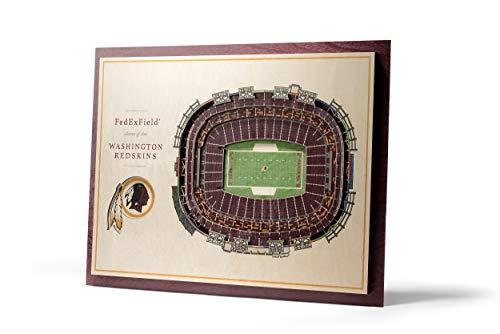 NFL Washington Redskins 5-Layer Stadiumviews 3D Wall ()