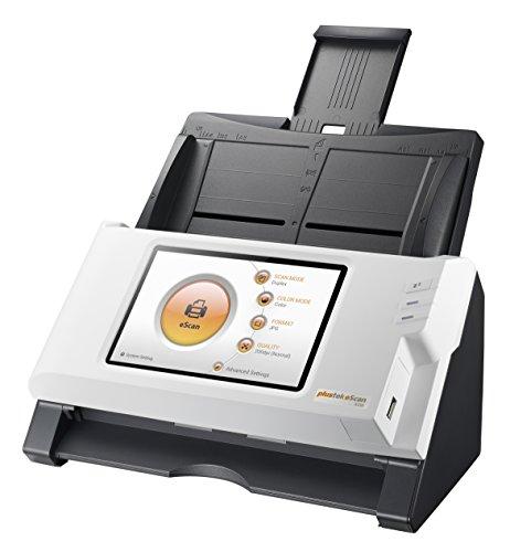 Plustek eScan A150 - Standalone Netzwerk-Dokumentenscanner (600dpi, RJ45, WiFi, 7 Zoll Multi-Touch-Display)
