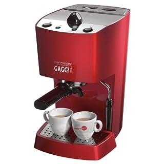 Gaggia 102534 Espresso-Color Semi-Automatic Espresso Machine, Red (B0015QTC7K)   Amazon price tracker / tracking, Amazon price history charts, Amazon price watches, Amazon price drop alerts