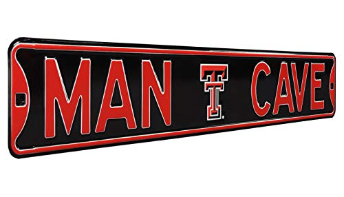 - Authentic Street Signs NCAAMAN CAVE, Officially Licensed, REAL 3 Foot, Premium Grade Solid SteelEmbossed STREET SIGN- Prime Wall Decor for Home, Office, Garage- Perfect Gift for Him!!