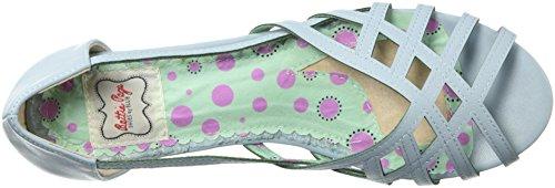 Bettie Page Womens Bp100-carren Sandalo Flat Blu