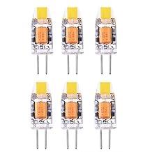 Best to Buy (10-PACK) Dimmable 3Watt 5WATT G4 LED Bi-Pin base 12V Light Bulb White 5000K-6500K Waterproof Halogen G4 20W led Replacement (5)