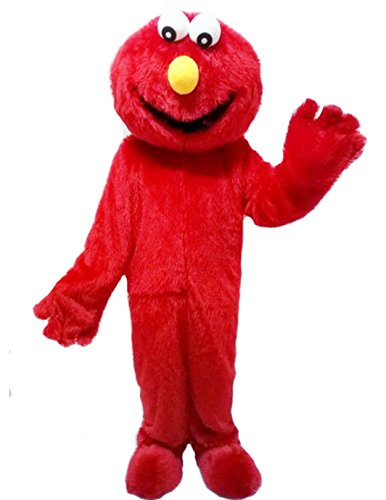 Bert And Ernie Costumes For Adults Halloween (ZYZ Elmo Red Monster Mascot Costume Cartoon Costume (L- 5'11